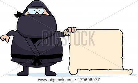 Cartoon Ninja Sign