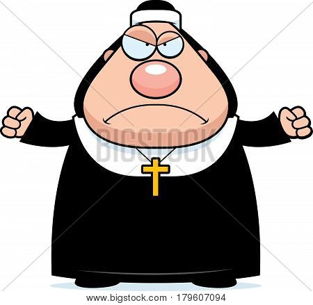 Angry Cartoon Nun