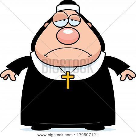 Sad Cartoon Nun