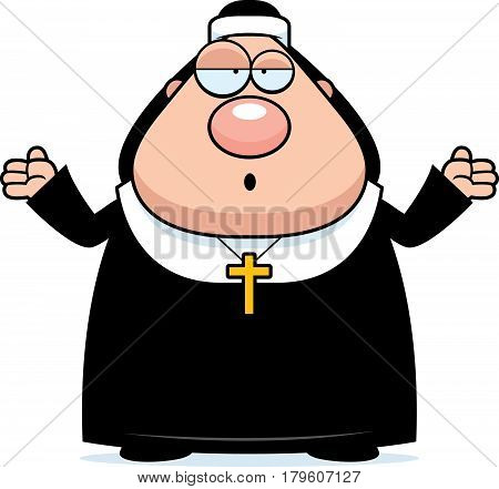 Confused Cartoon Nun