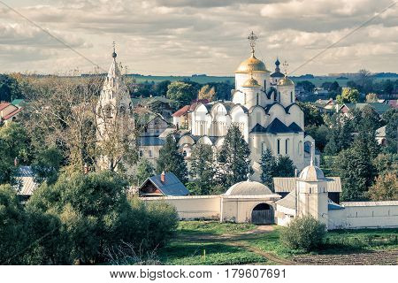 Convent of the Intercession (Pokrovsky monastery) in the ancient town of Suzdal, Russia. Golden Ring of Russia.