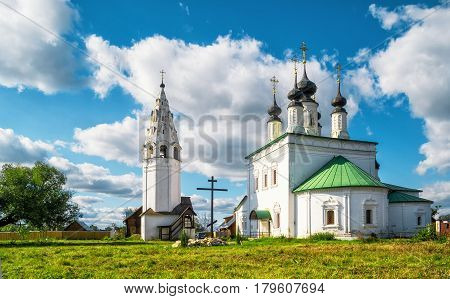 Inside the Saint Alexander Convent (Alexandrovsky monastery) in the ancient town of Suzdal, Russia. Suzdal is a part of the Golden Ring of Russia and the UNESCO site.