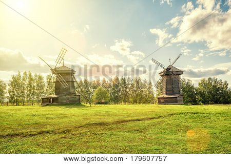 Old mills in ancient town of Suzdal Russia. Golden Ring of Russia.