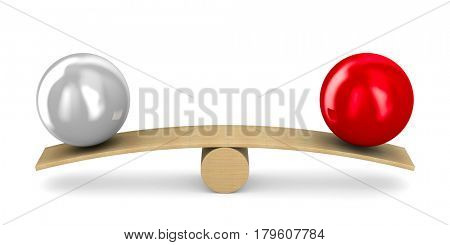 Scales on white background. Isolated 3D illustration