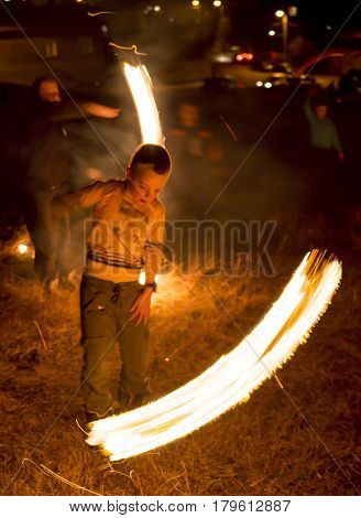 Fire Ritual Sirni Zagovezni Before Easter