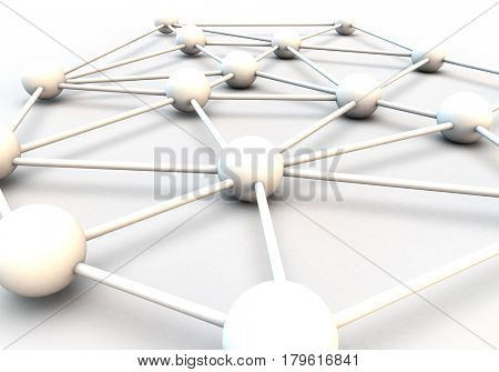 Metaphor for connections, teamwork and communication
