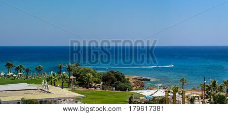 Protaras, Cyprus. June  19, 2015: Seashore