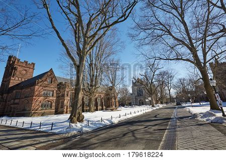 PRINCETON, NJ -24 FEB 2017- The campus of Princeton University, a private Ivy League research university in New Jersey, ranked the number one undergraduate college by US News & World Report in 2015.