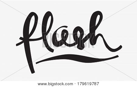 Hand lettering modern text style cursive logo vector