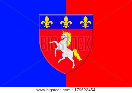 Flag of Saint-Lo is a commune in north-western France the capital of the Manche department in the region of Normandy