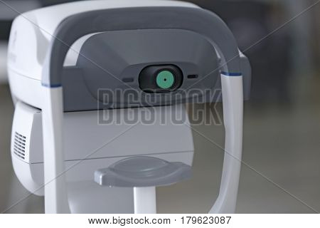 Tonometer in ophthalmologist's office, closeup