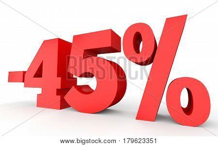 Minus Forty Five Percent. Discount 45 %.