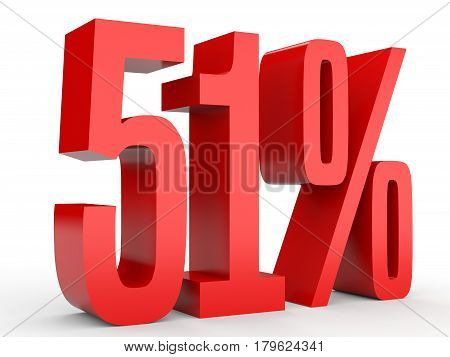 Fifty One Percent Off. Discount 51 %.