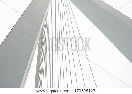 Elements of The Erasmus Bridge cable construction