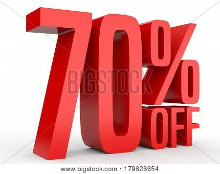 Seventy Percent Off. Discount 70 %.