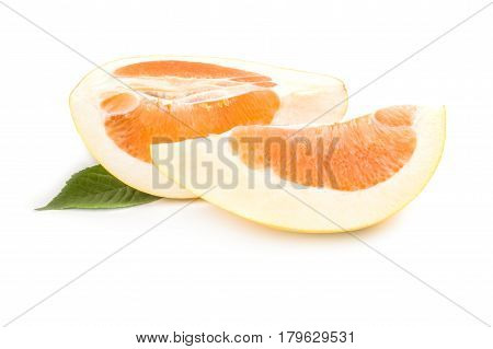 Pummelo isolated on a white background with clipping path