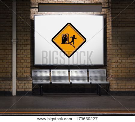 Fire Exit Emergency Attention Sign