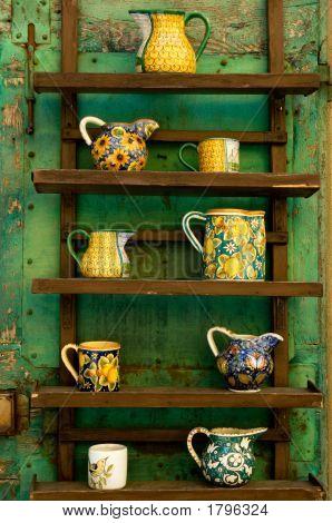 Rustic Ceramics Display