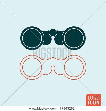 Binoculars icon. Field glasses symbol. Vector illustration