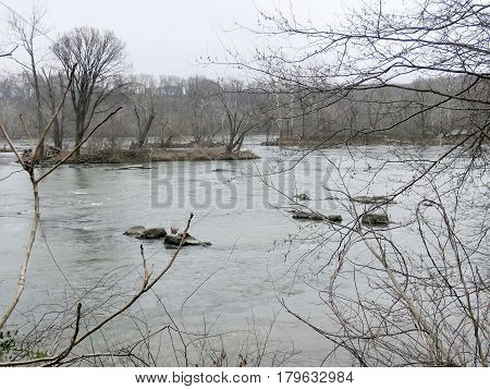Potomac River near Washington USA March 26 2017