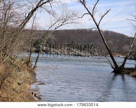 Potomac River near Washington USA March 20 2017