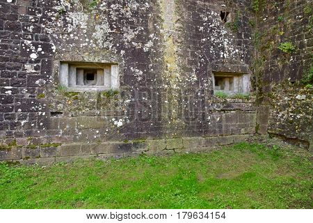 Neuf Brisach France - july 23 2016 : the fortification in summer