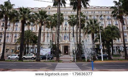 Inter Continental Carlton In Cannes, French Riviera.