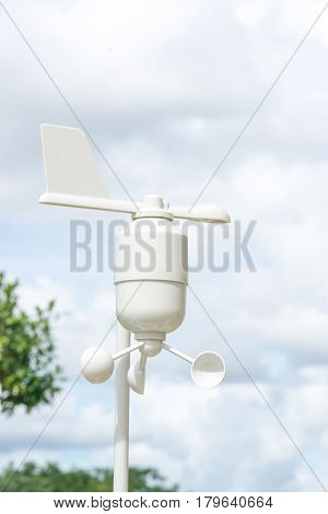 Anemometer Meteorology station Wind meter with blur background