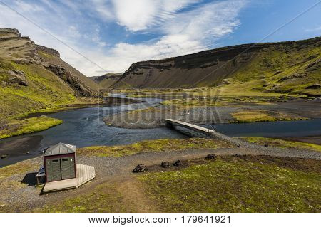 Camp at Landmannalaugar, Iceland