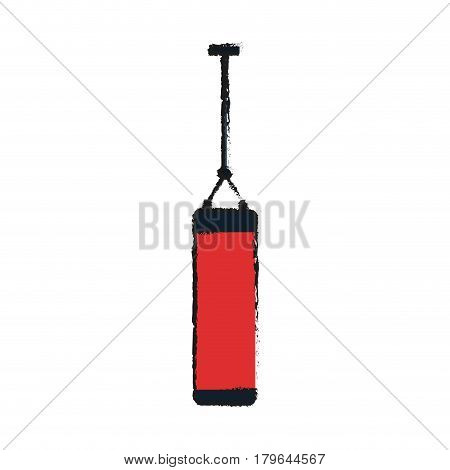 punch bag icon over white background. vector illustration