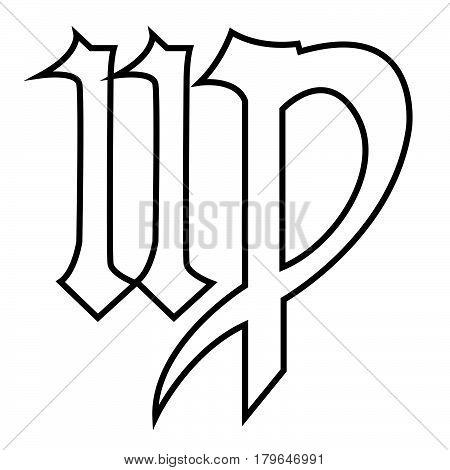 Thin Line Virgo Sign Icon