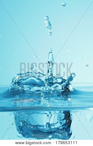 Art of water / Water is a polar inorganic compound that is at room temperature a tasteless and odorless liquid, nearly colorless with a hint of blue.