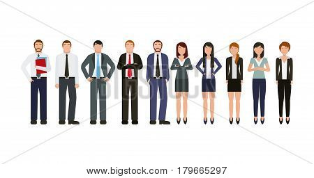 business people wearing executive clothes icon over white background. colorful design. vector illustration