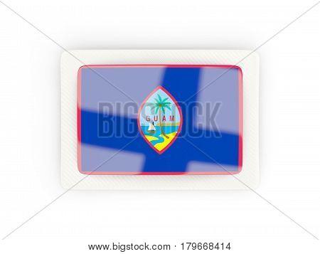 Rectangular Flag Of Guam With Carbon Frame