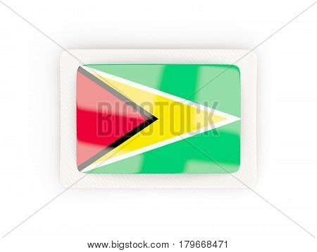 Rectangular Flag Of Guyana With Carbon Frame