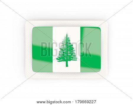 Rectangular Flag Of Norfolk Island With Carbon Frame