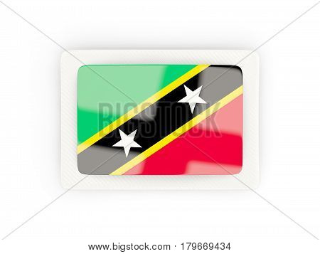 Rectangular Flag Of Saint Kitts And Nevis With Carbon Frame