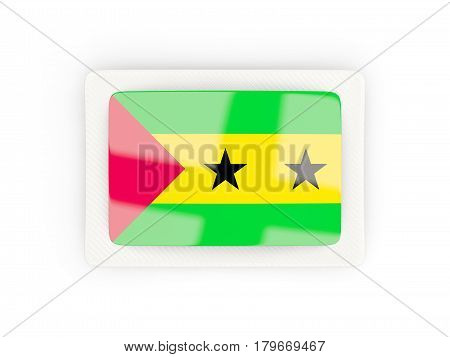 Rectangular Flag Of Sao Tome And Principe With Carbon Frame