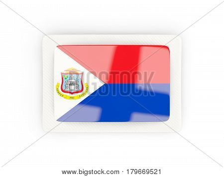 Rectangular Flag Of Sint Maarten With Carbon Frame