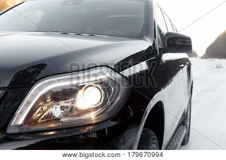 The Front Lights Of The Car