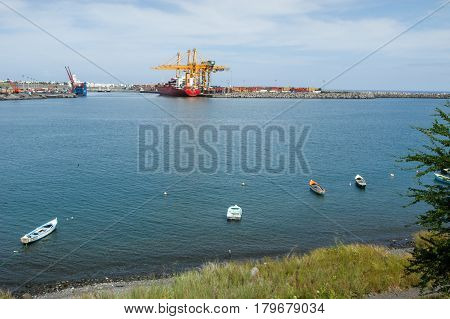 The Industrial Port Of Reunion Island On France