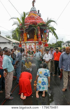 Hindu Celebration Of Pandiale At Saint Andre On La Reunion
