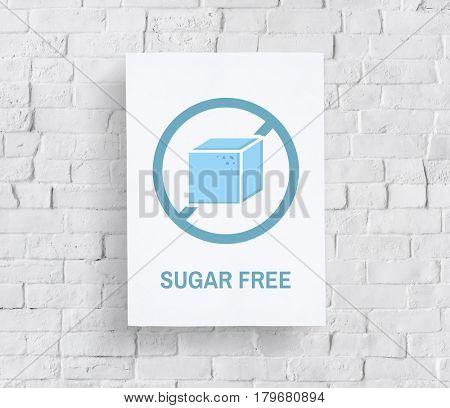 Sugar Free Healthy Lifestyle Concept