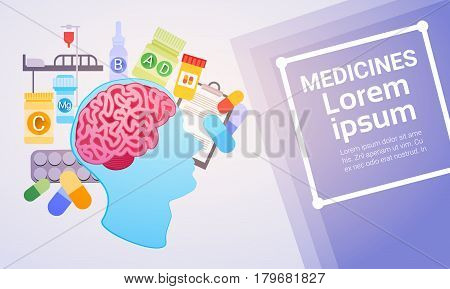 Hospital Medical Application Health Care Medicine Online Web Banner Vector Illustration