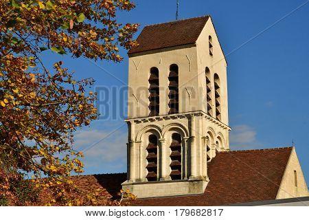 Verneuil sur Seine; France - october 16 2016 : the saint Martin church