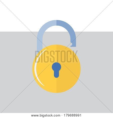 Lock vector icons. Lock symbol in flat style. Concept password and security. Lock security sign