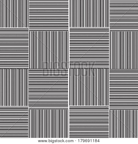 black and white straight line with dot line weave pattern background vector illustration image