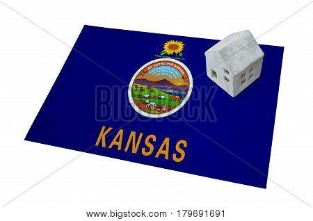 Small House On A Flag - Kansas