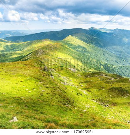 Landscape With Green Mountains