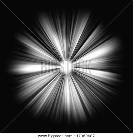 poster of Shining star: Beams of light in the dark. Large resolutin
